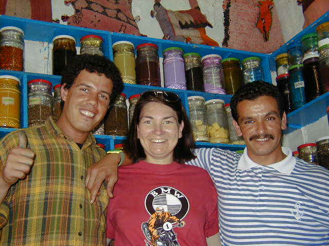 Berber friends we met in their spice shop in Essaouira