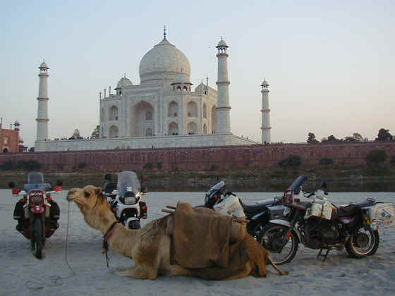Behind the Taj Mahal