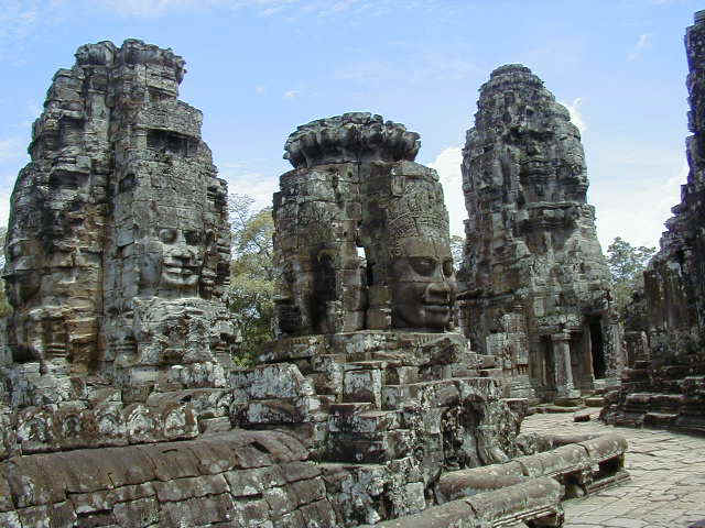 Heads at the Temple of Bayon