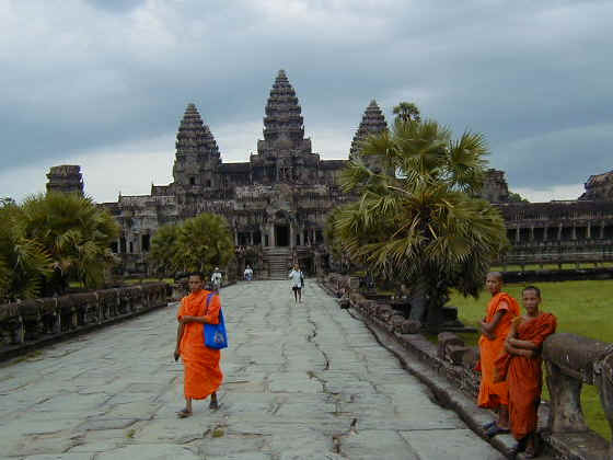 Monks infront of Angkor Wat