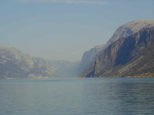 View to Lysefjorden from the ferry