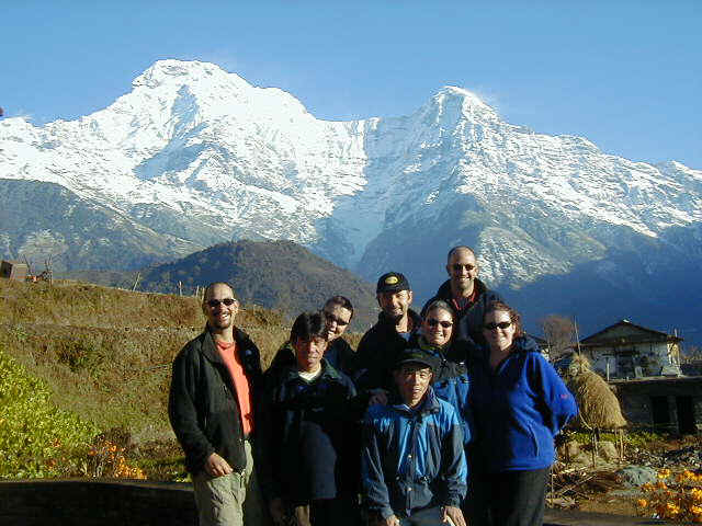 L>R: Chris, Chakre, Kirstin, Tony, Erin, Matt, Emma, and Kiru (Aussie's guide in front)