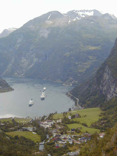 Nice twisty roads in and out of Geiranger