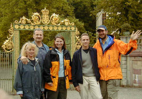 Iren, Ferenc, Erin, Daniel, and Chris (At the Royal Palace)