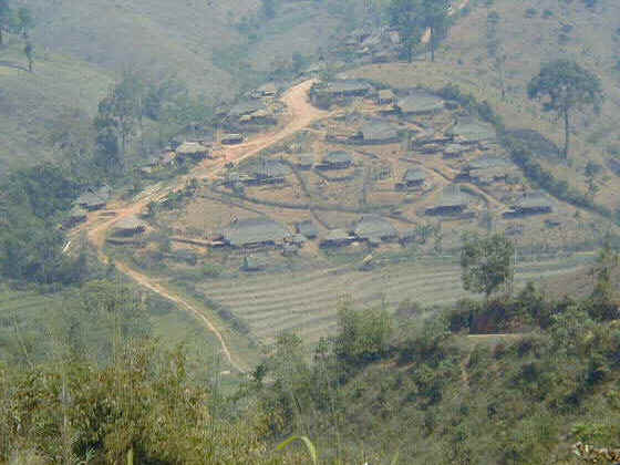 Typical hill village