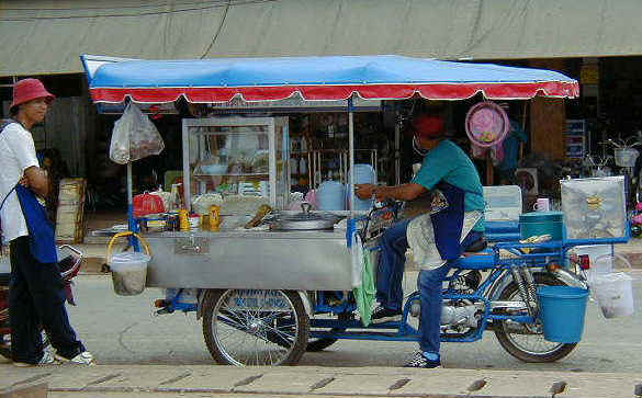 Noodle soup vendor