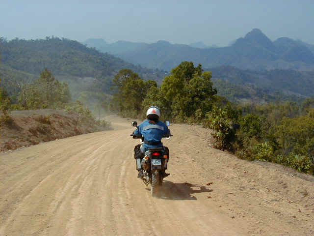 Riding towards the Myanmar border ridge