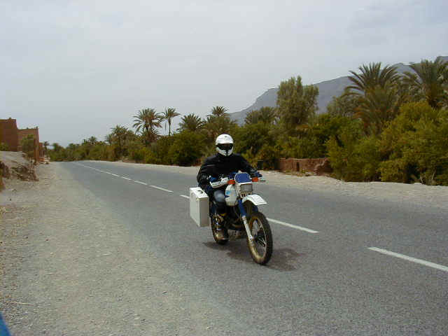 Tanguy blazing by us on his Suzuki DR500