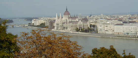 Parliment overlooking the Danube River